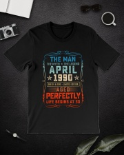 30th Birthday April 1990 Man Myth Legends Classic T-Shirt lifestyle-mens-crewneck-front-16