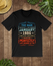 40th Birthday January 1980 Man Myth Legends Classic T-Shirt lifestyle-mens-crewneck-front-18