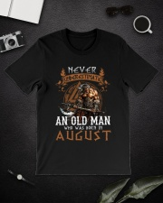 Never Underestimate An Old Man Was Born In August Classic T-Shirt lifestyle-mens-crewneck-front-16