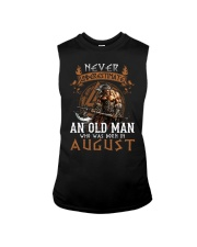 Never Underestimate An Old Man Was Born In August Sleeveless Tee tile