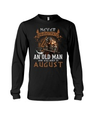 Never Underestimate An Old Man Was Born In August Long Sleeve Tee tile