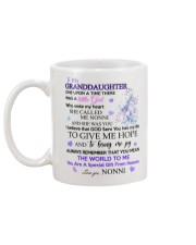 To my Granddaughter from Nonni Mug back