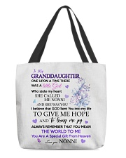 To my Granddaughter from Nonni All-Over Tote tile