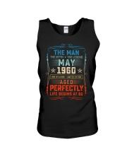 60th Birthday May 1960 Man Myth Legends Unisex Tank tile