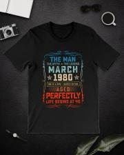 40th Birthday March 1980 Man Myth Legends Classic T-Shirt lifestyle-mens-crewneck-front-16