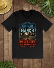 40th Birthday March 1980 Man Myth Legends Classic T-Shirt lifestyle-mens-crewneck-front-18