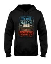40th Birthday March 1980 Man Myth Legends Hooded Sweatshirt tile