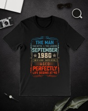 40th Birthday September 1980 Man Myth Legends Classic T-Shirt lifestyle-mens-crewneck-front-16