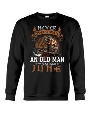 Never Underestimate June Old Man Crewneck Sweatshirt tile