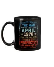 50th Birthday April 1970 Man Myth Legends Mug back