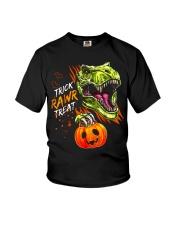 TRICK RAWR TREAT T-REX Youth T-Shirt tile