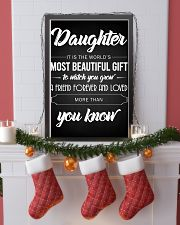 To my Daughter 16x24 Poster lifestyle-holiday-poster-4