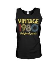 40th Birthday Gift T-Shirt - Retro Birthday Unisex Tank tile