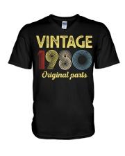 40th Birthday Gift T-Shirt - Retro Birthday V-Neck T-Shirt tile