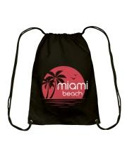 Miami Beach City Drawstring Bag tile