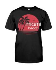 Miami Beach City Premium Fit Mens Tee tile