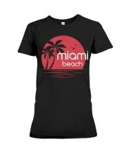 Miami Beach City Premium Fit Ladies Tee tile