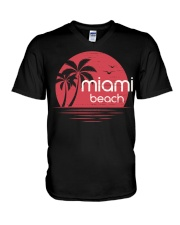 Miami Beach City V-Neck T-Shirt tile