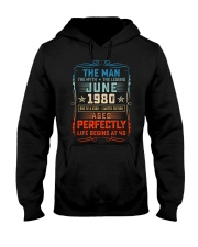 40th Birthday June 1980 Man Myth Legends Hooded Sweatshirt tile