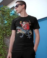 Santa Riding Dinosaur T-shirt Rex Christmas  Classic T-Shirt apparel-classic-tshirt-lifestyle-17
