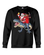 Santa Riding Dinosaur T-shirt Rex Christmas  Crewneck Sweatshirt tile