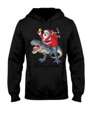 Santa Riding Dinosaur T-shirt Rex Christmas  Hooded Sweatshirt tile