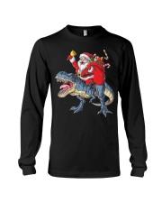 Santa Riding Dinosaur T-shirt Rex Christmas  Long Sleeve Tee tile