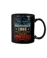 40th Birthday November 1980 Man Myth Legends Mug front