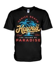 Hawaii City V-Neck T-Shirt tile
