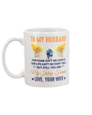 To my Husband Coffee Cup Mug back