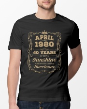 April 1980 Sunshine Mixed With A Little Hurricane Classic T-Shirt lifestyle-mens-crewneck-front-13
