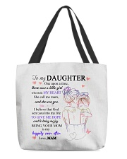 To my daughter from mam All-Over Tote tile