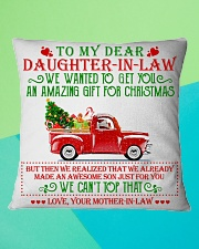 To my dear Daughter-in-law Square Pillowcase aos-pillow-square-front-lifestyle-5