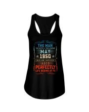 70th Birthday May 1950 Man Myth Legends Ladies Flowy Tank tile