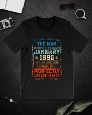 30th Birthday January 1990 Man Myth Legends Classic T-Shirt lifestyle-mens-crewneck-front-16