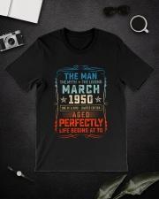 70th Birthday March 1950 Man Myth Legends Classic T-Shirt lifestyle-mens-crewneck-front-16