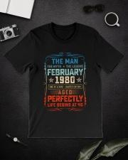 40th Birthday February 1980 Man Myth Legends Classic T-Shirt lifestyle-mens-crewneck-front-16