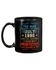 30th Birthday July 1990 Man Myth Legends Mug back