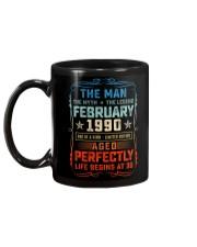 30th Birthday February 1990 Man Myth Legends Mug back