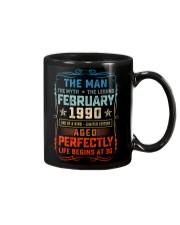 30th Birthday February 1990 Man Myth Legends Mug front