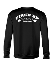 Fired Up Garage Dallas Texas - Front and Back Crewneck Sweatshirt tile