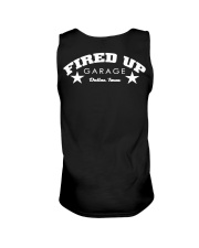 Fired Up Garage Dallas Texas - Front and Back Unisex Tank tile