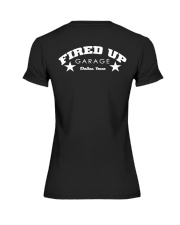 Fired Up Garage Dallas Texas - Front and Back Premium Fit Ladies Tee tile