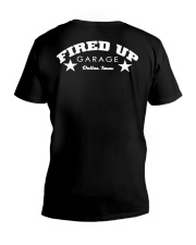Fired Up Garage Dallas Texas - Front and Back V-Neck T-Shirt tile