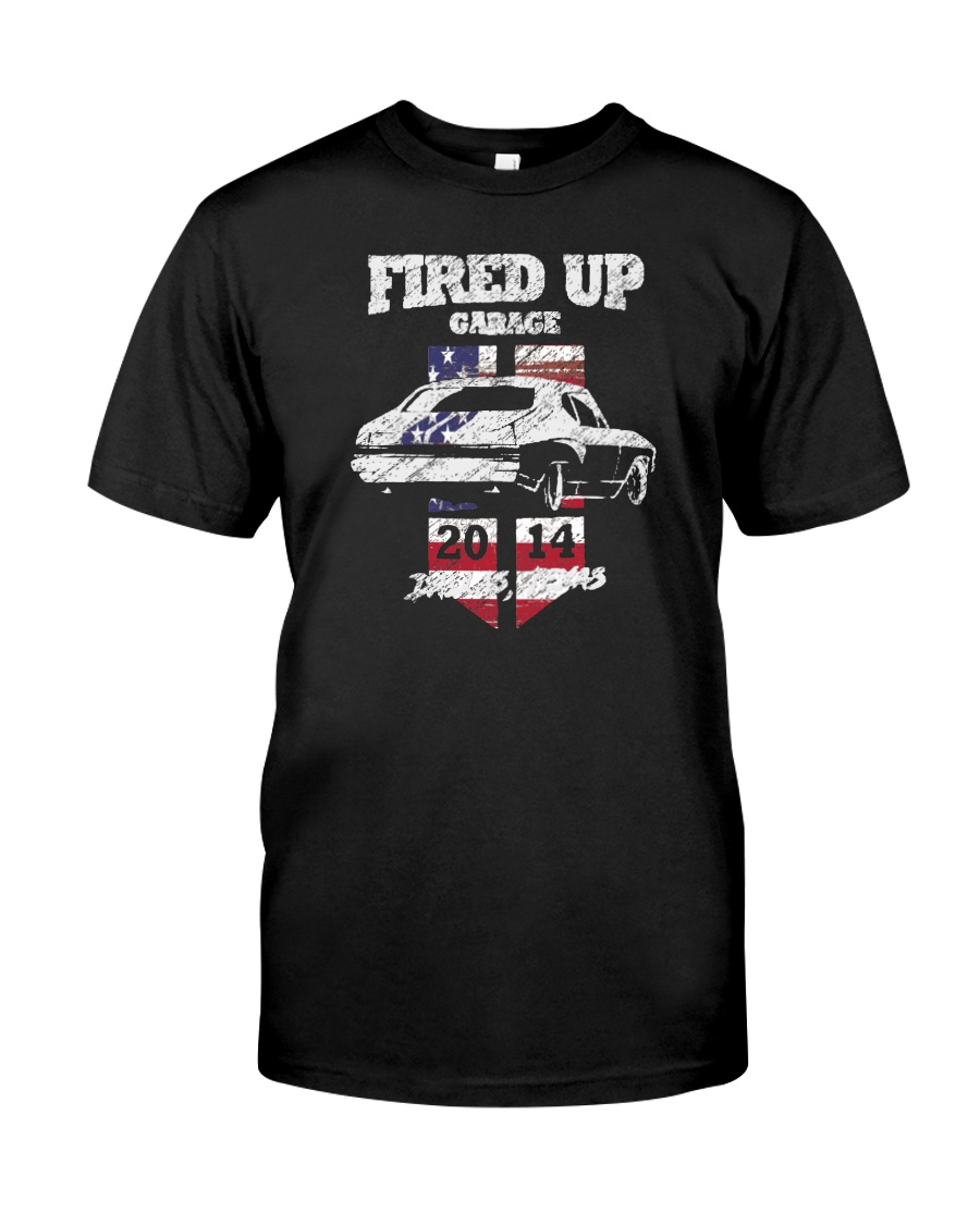 Fired Up Garage  - Flag of the United States Classic T-Shirt