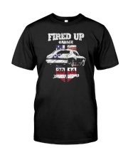 Fired Up Garage  - Flag of the United States Classic T-Shirt front