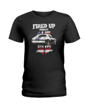 Fired Up Garage  - Flag of the United States Ladies T-Shirt thumbnail