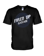 Fired Up Garage Dallas Texas Established 2014 V-Neck T-Shirt thumbnail