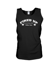 Fired Up Garage Dallas Texas - Big Front Unisex Tank thumbnail