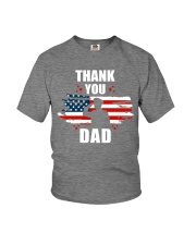 4th of July Independence day Hero Dad Youth T-Shirt front